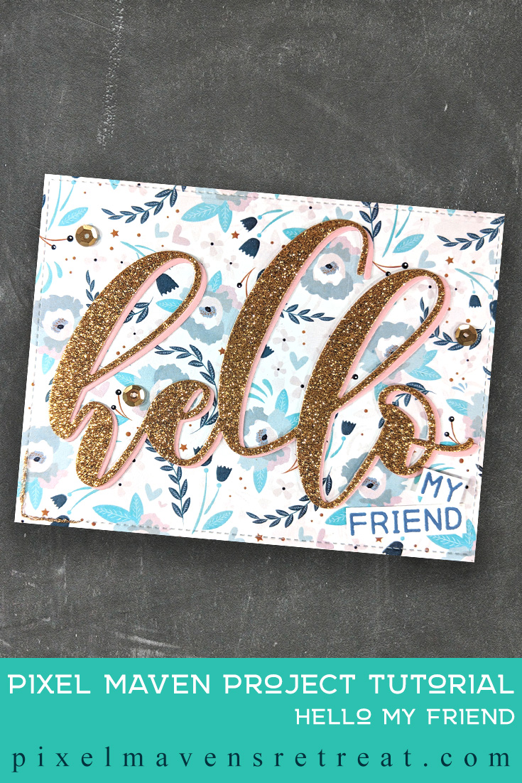 For the Festive Friday Challenge #FF0025). Featuring: Altenew Mega Greetings & Mega Hello die, Photo Play Paper Memories. #nicolewatt #pmretreat #hello #justbecause #altenew