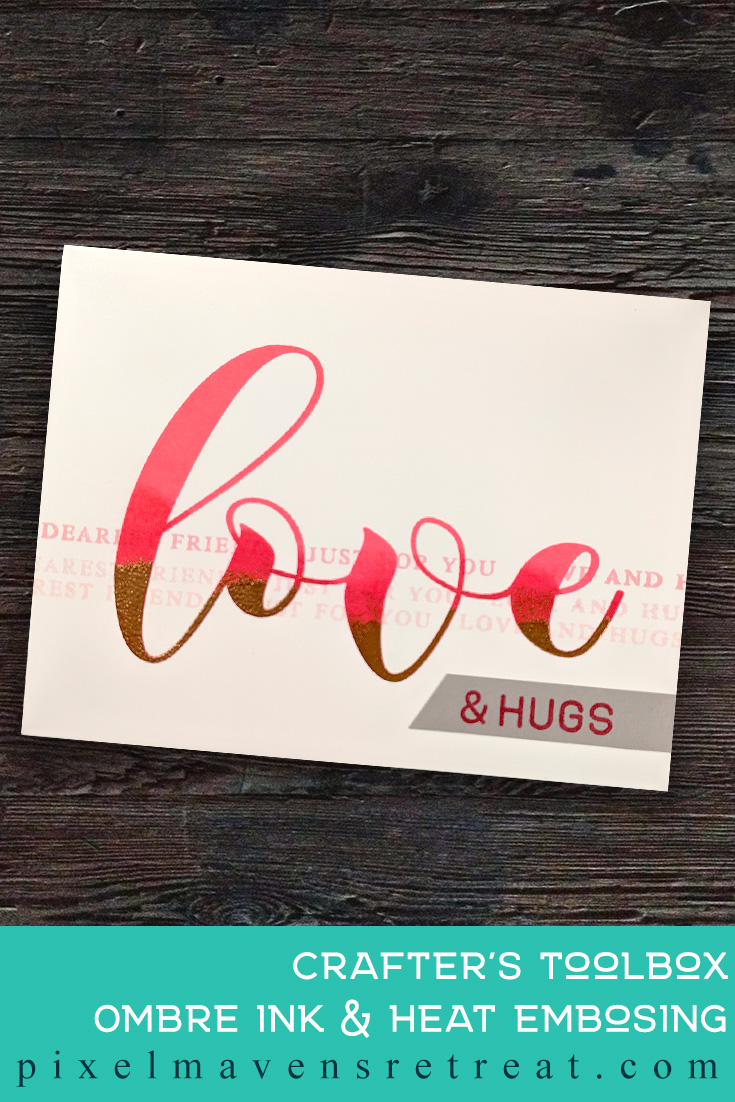 For the Altenew Educator Certification Program - level 1: Clean & Simple Boutique Cards. Features Mega Greetings 3 stamp set, Altenew Crisp Dye Inks. For more information and a video, click through to the blog post. #pmretreat #altenew #AECP #CAS #cleanandsimple #love #galentine #valentine