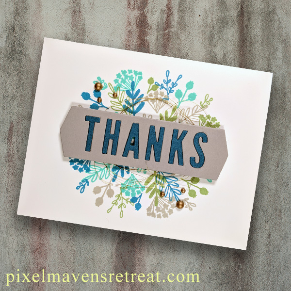 For On the CASE with Ann & Nicole (February 2019). Featuring, Everyday Bouquet Turnabout stamp set (Concord & 9th). For more details including step-by-step instructions for CASE-ing this card , click through. #pmretreat #concordand9th #turnabout #floral #thanks #handstamped
