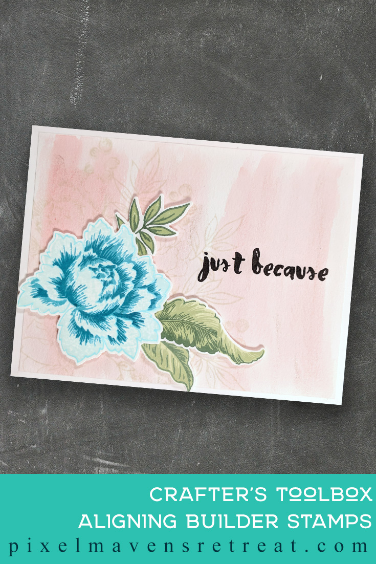 For the Altenew Educator Certification Program - level 1: All About Layering 2. Features Peony Bouquet stamp set & dies, Painted Greetings stamp set. For more details, click through to the blog post. #pmretreat #altenew #AECP #floral #justbecause #friendship #buildaflower #watercolorwash
