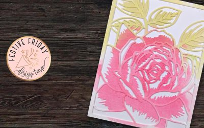 How to make a Watercolor Rose Diecut Card