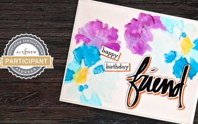 Organic Embossing & Vellum Stamped Watercolor