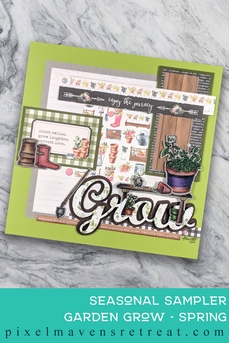 For the Craft Collabs Spring Bunny Hop Video Hop. Features Altenew Garden Grow, Copics, Faber-Castell Polychromos. For more details, click through to the blog post. #pmretreat #altenew #craftcollabs #spring #sampler #garden #grow