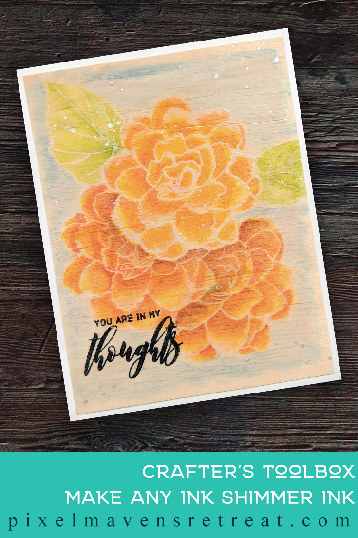 For the Altenew Educator Certification Program - level 2: In the Mood for Color. Features Wispy Begonia stamp set, Birch Wood Sheets. For more details, click through to the blog post. #pmretreat #altenew #AECP #thinkingofyou #courage #sympathy #orange