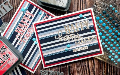 Festive Friday: 5-Minute Striped Birthday Card