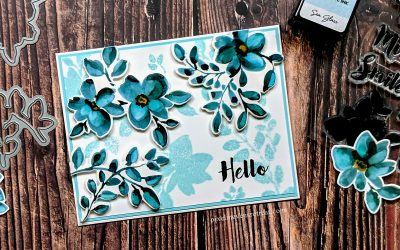 Festive Friday: Easy Blue Floral Hello