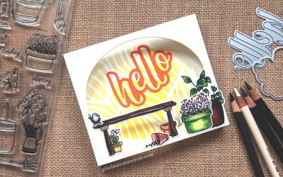Simple Diorama Card from the Scrap Pile