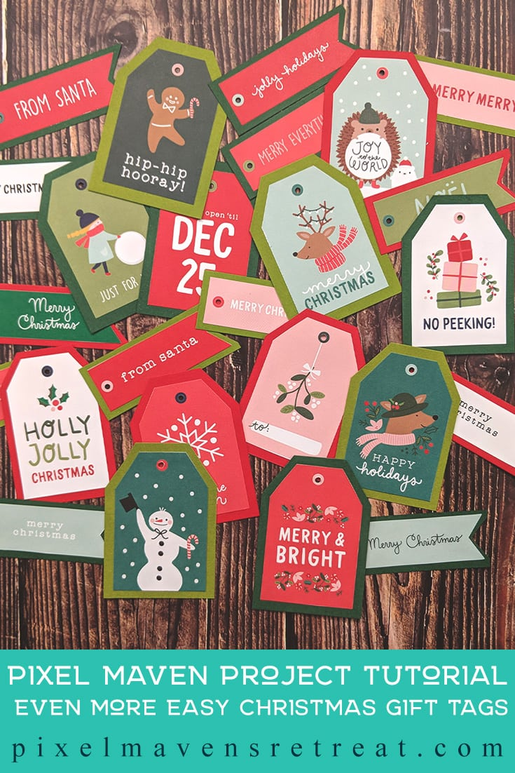 For the 12 Days of Christmas in July (July 2019). Just For You 12x12 paper (Pebbles/American Crafts). For more details including a process video, click through. #pmretreat #scrapbookcom #christmastags #holidays #easycrafts #christmas #handmade #americancraft