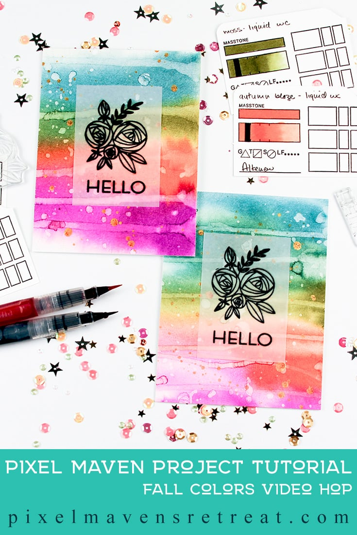 For the Festive Friday Challenge #FF0045). Featuring: Rosy Posy stamp set (Altenew) and Watercolor Brush Markers (Altenew). Click through for a step-by-step video #nicolewatt #pmretreat #altenew #festivefriday #watercolor #hellocard #greetingcard