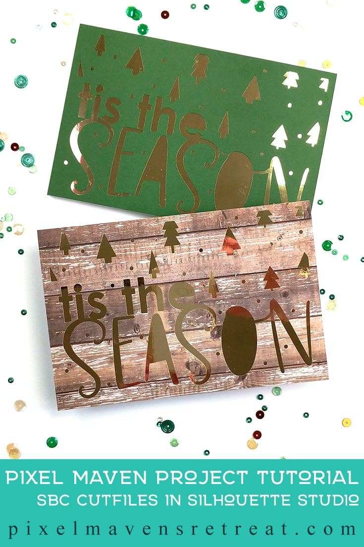 Holiday card designed for Scrapbook.com Features the Tis the Season cutfile set (scrapbook.com). For details and a video, click through to the blog. #pmretreat #scrapbookcom #christmas #holidaycards #cutfile #carddesign #cardmaking #greetingcard #cards