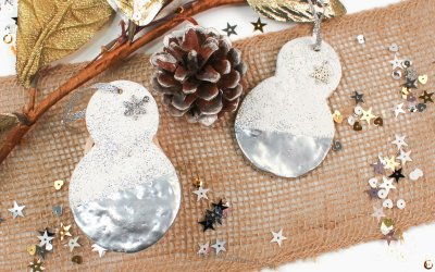 DIY Quick Clay Snowman Ornaments