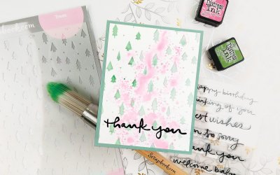 Trees Beyond Christmas – Pink & Green Thank You