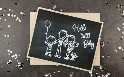 New Baby Chalkboard Card for Hedgehog Hollow