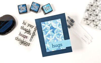 Blue Floral Watercolor Card ft. Scrapbook.com Watercolor Brushes