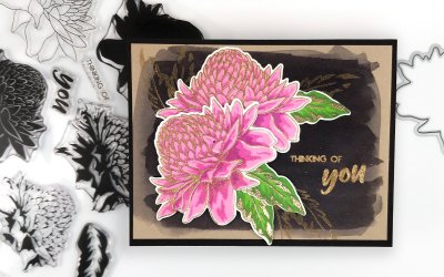 Altenew Build-A-Flower: Torch Ginger Release Blog Hop + Giveaway