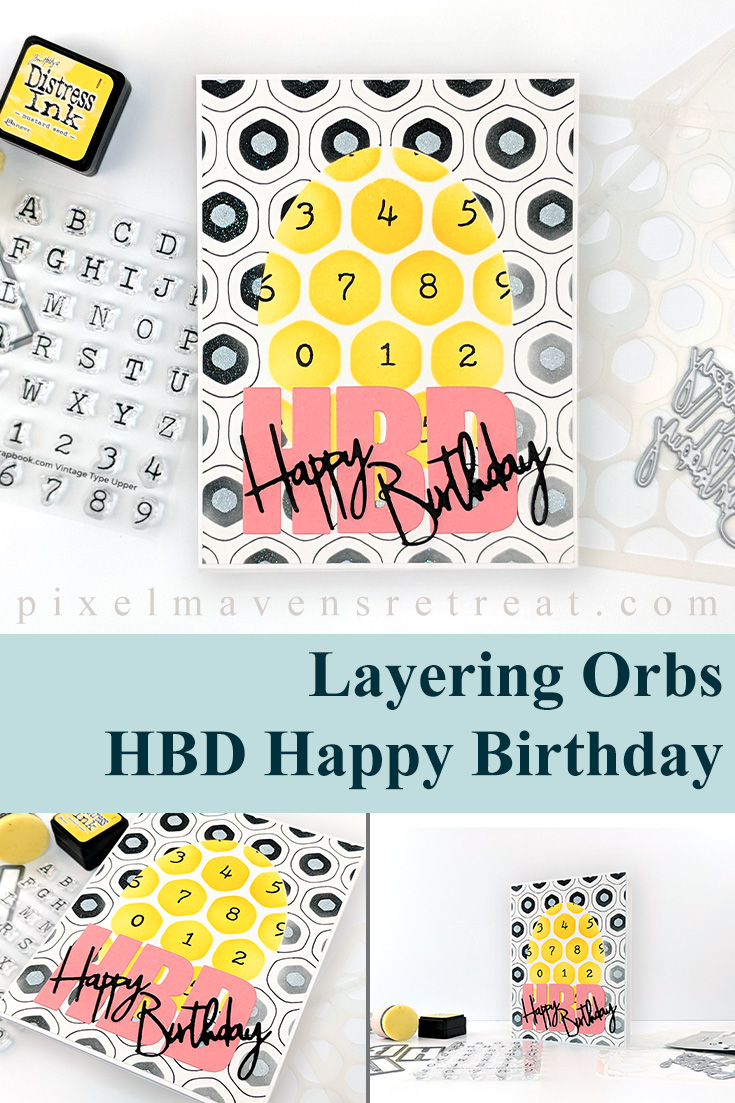 Stenciled-up Birthday for Festive Friday