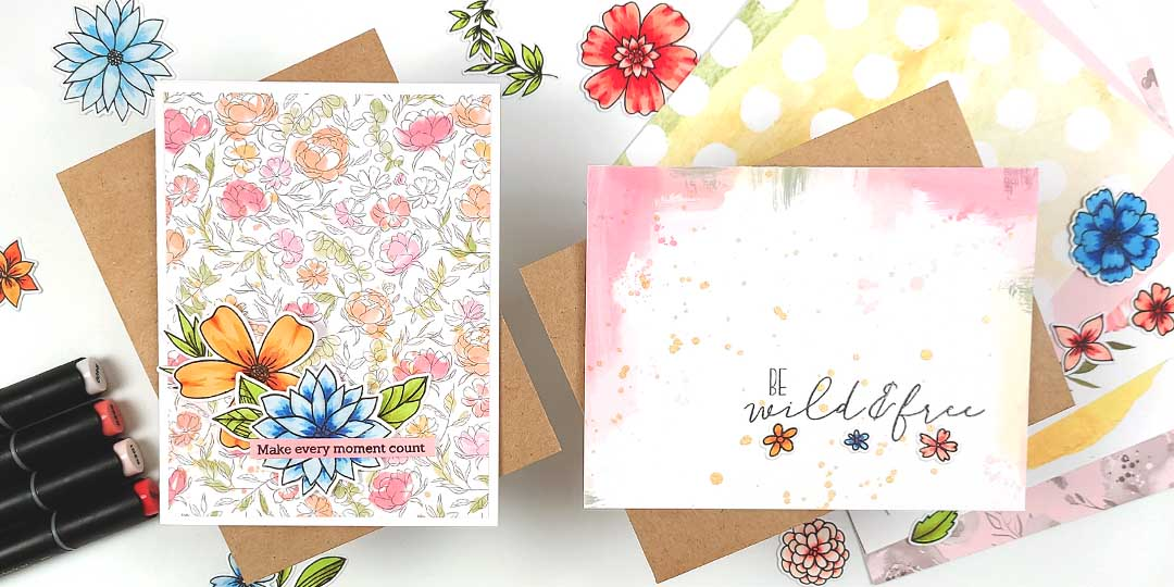 Transform a Sheet of Flowers Into Cards