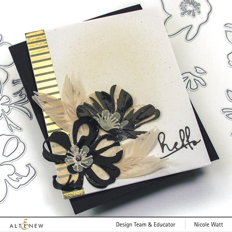 greeting card featuring the craft-a-flower cistus die set from altenew