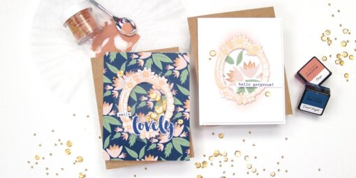 greeting card featuring the sweet friend stamp set from altenew