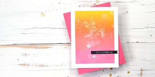 greeting card featuring altenew's positive vibes