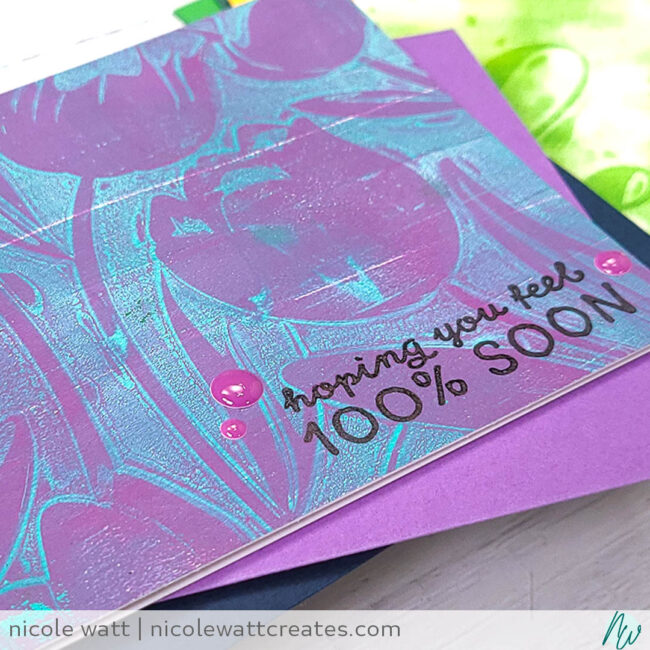 greeting card featuring altenew tulip embossing folder