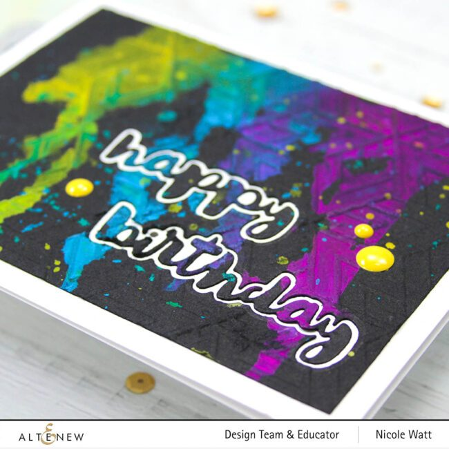 greeting card featuring just a number die set by altenew