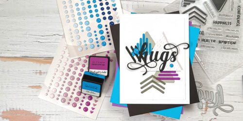 greting card featuring altenew doodled triangles stamp set