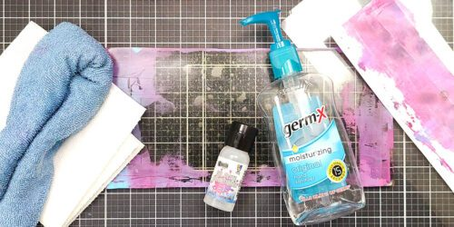 supplies for cleaning a dirty gel plate