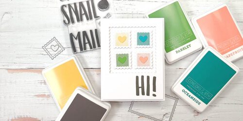 greeting card featuring concorrd & 9th snail mail