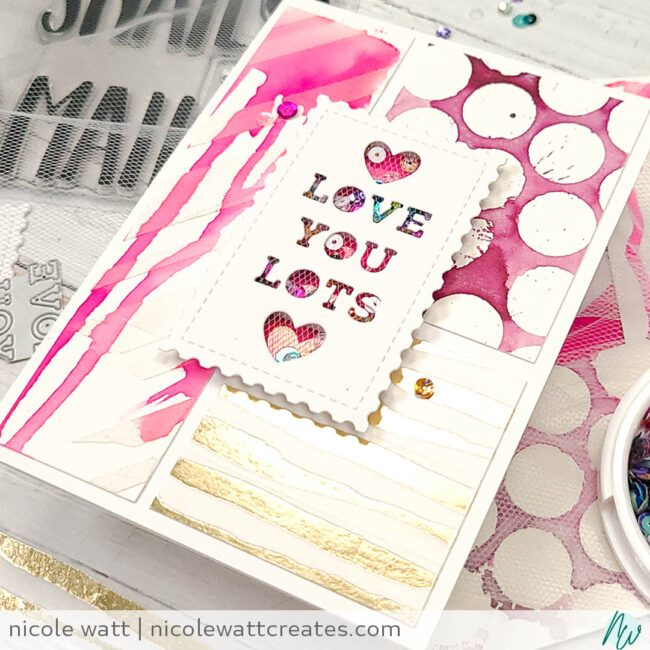 greeting card featuring concord & 9th snail mail and scrap bin pieces